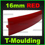 16mm red T-moulding