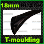 18mm black T-moulding