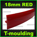 18mm red T-moulding
