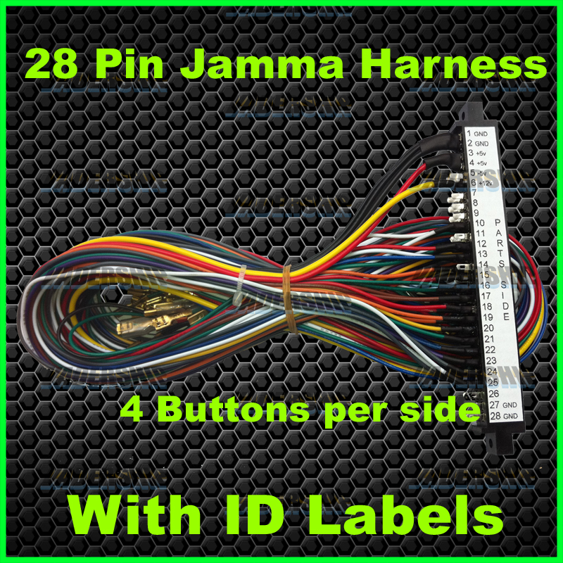 28 Pin Jamma Harness  4 Buttons Per Side