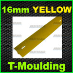 16mm Yellow T-moulding