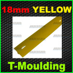 18mm Yellow T-moulding